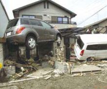 津波の威力を物語る一枚です