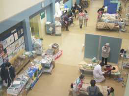 病院での診療様子の写真