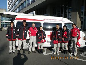 長野県庁前の様子の写真