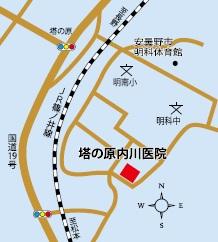 塔の原内川医院地図