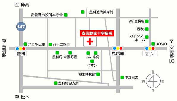 病院地図近隣
