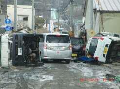 被災した町の様子①の写真
